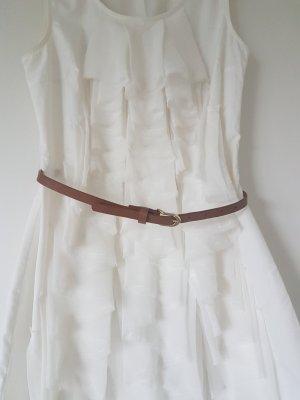 Rüschen Kleid cremeweiß
