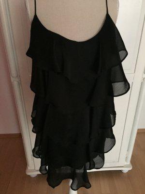 Rüschen Minikleid in schwarz Trägerkleid