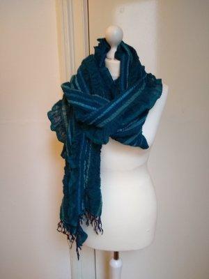 Écharpe à franges multicolore tissu mixte