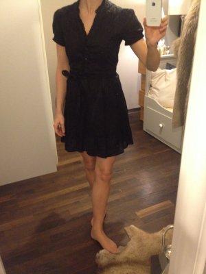 Rüschen schwarzes Blusenkleid 36