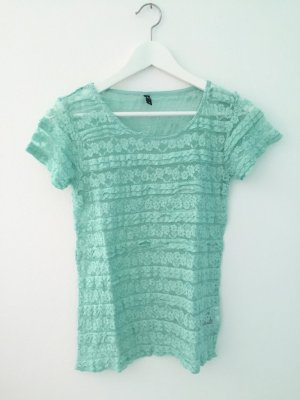Rüschen T-Shirt in mintgrün