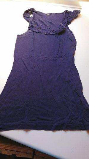 Top met franjes donkerblauw