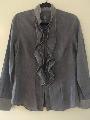 Ruffled Blouse slate-gray