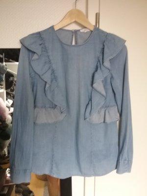 Jake*s Denim Blouse azure cotton