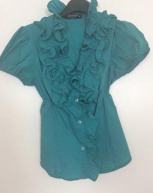 Rinascimento Ruche blouse turkoois