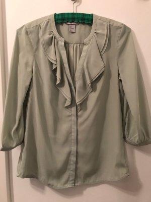 Ruche blouse grijs-groen