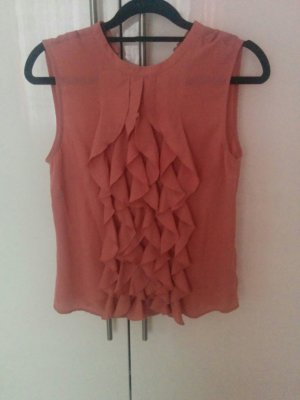 H&M Frill Top dusky pink-pink