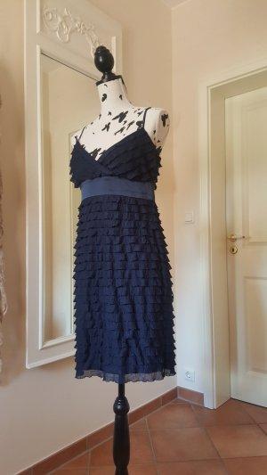 Esprit Volante jurk blauw-donkerblauw