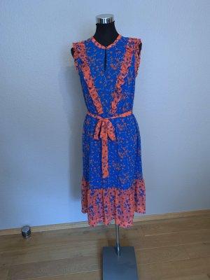 Boden Volante jurk blauw-baksteenrood