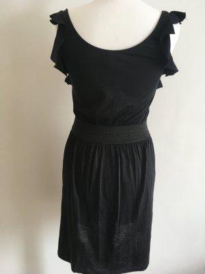 Rüschenkleid schwarz Esprit Gr. 36