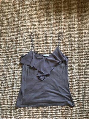 H&M Top met franjes grijs