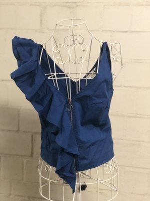 H&M Top a balze blu