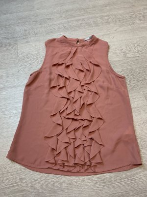 H&M Ruffled Blouse dusky pink-pink