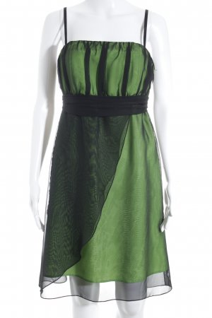 Ruis Collection Vestido tipo overol verde-negro elegante