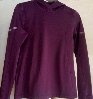 Run-Langarm - Shirt Winter mit Kapuze