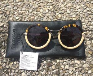 Runde gehörnte handgemachte Sonnenbrille von ASOS