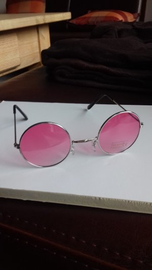 Glasses pink-silver-colored