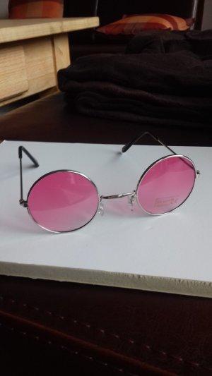 Gafas color plata-rosa
