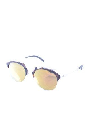 runde Sonnenbrille braun-dunkelbraun Street-Fashion-Look