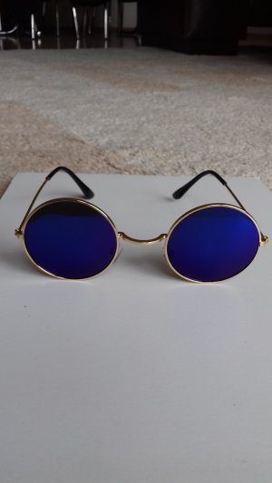 Glasses blue-gold-colored