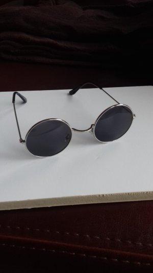 Glasses black-silver-colored