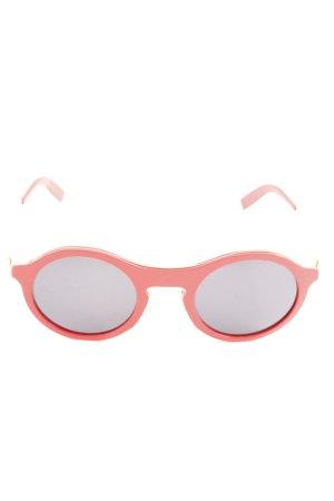 runde Sonnenbrille goldfarben-rot extravaganter Stil