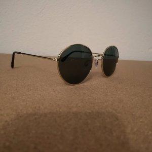 Runde Sonnenbrille mit Goldrahmen