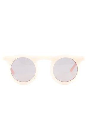 runde Sonnenbrille rosé Retro-Look