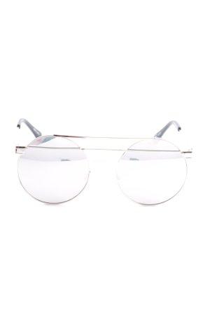 runde Sonnenbrille roségoldfarben Retro-Look