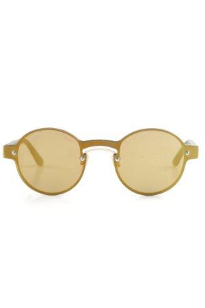 Humphrey runde Sonnenbrille schwarz-goldfarben Street-Fashion-Look