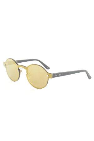 runde Sonnenbrille schwarz-goldfarben Street-Fashion-Look