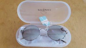 Runde stylische Sonnenbrille von palapas in silber - Neue Kollektion