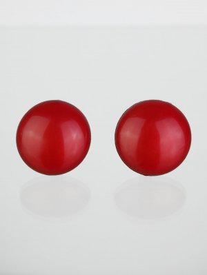 Earclip red synthetic material