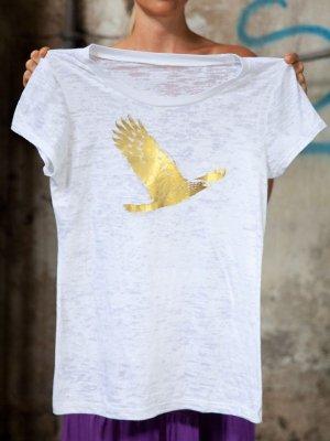 Rundhals-Shirt mit Adler
