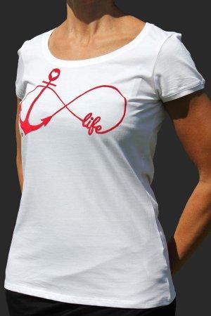 Rundhals-Shirt mit Anker