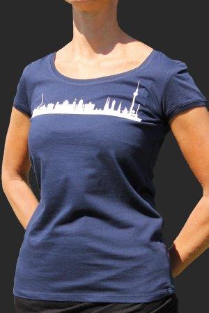 Rundhals-Shirt mit Skyline Berlin