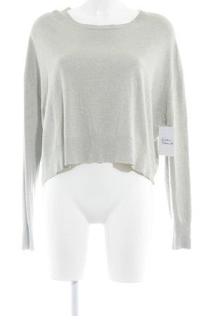 Kraagloze sweater licht beige casual uitstraling