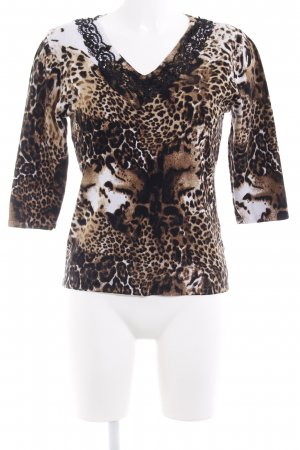 Kraagloze sweater luipaardprint dierenprint