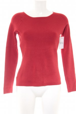 Rundhalspullover rot Casual-Look