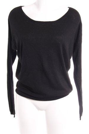 Crewneck Sweater black casual look