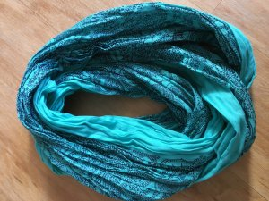 Tom Tailor Denim Snood turkoois-zwart