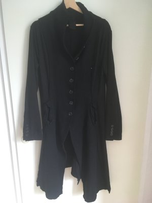 Rundholz Abrigo de lana negro Algodón