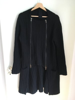 Rundholz Abrigo de lana negro tejido mezclado