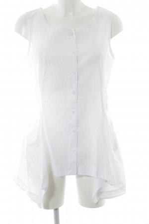 Rundholz Transparenz-Bluse weiß Elegant