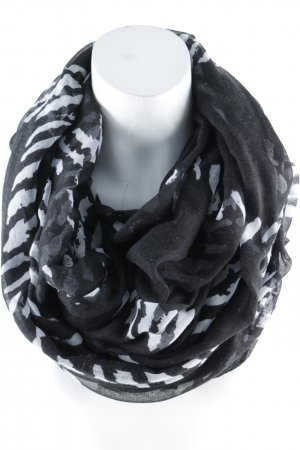 Snood zwart-wit abstract patroon casual uitstraling
