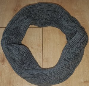 Snood dark grey cotton