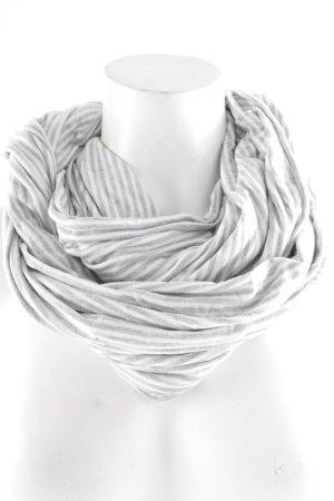 Snood wit-lichtgrijs gestreept patroon minimalistische stijl