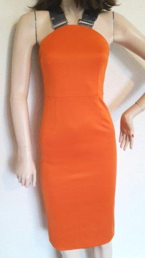 Robe à bretelles gris-orange