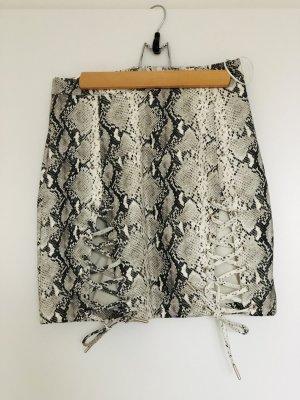 Runwaydreamz Leather Skirt multicolored