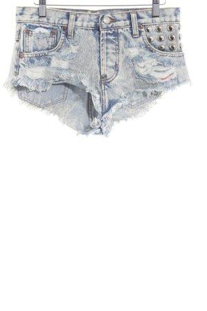 Runwaydreamz Shorts crema-blu acciaio aspetto di seconda mano
